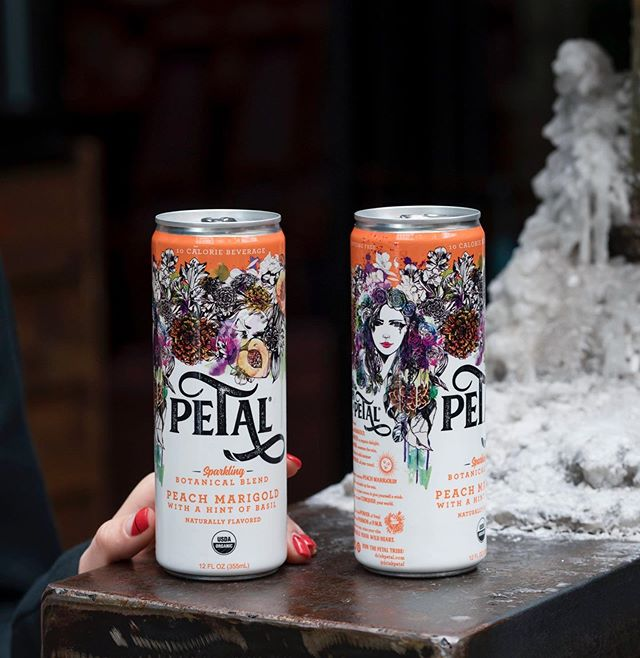 When juicy PEACH meets tangy MARIGOLD, passion IGNITES in organic delight. 🍑 🧡 #drinkpetal