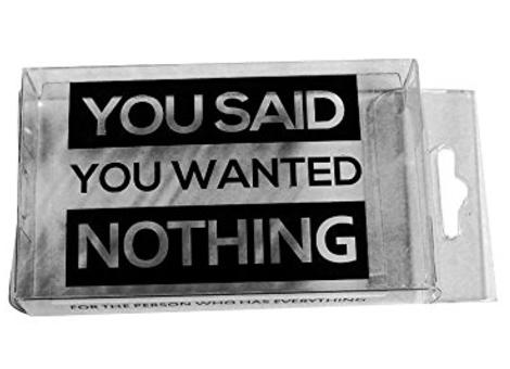 Nothing....($12)