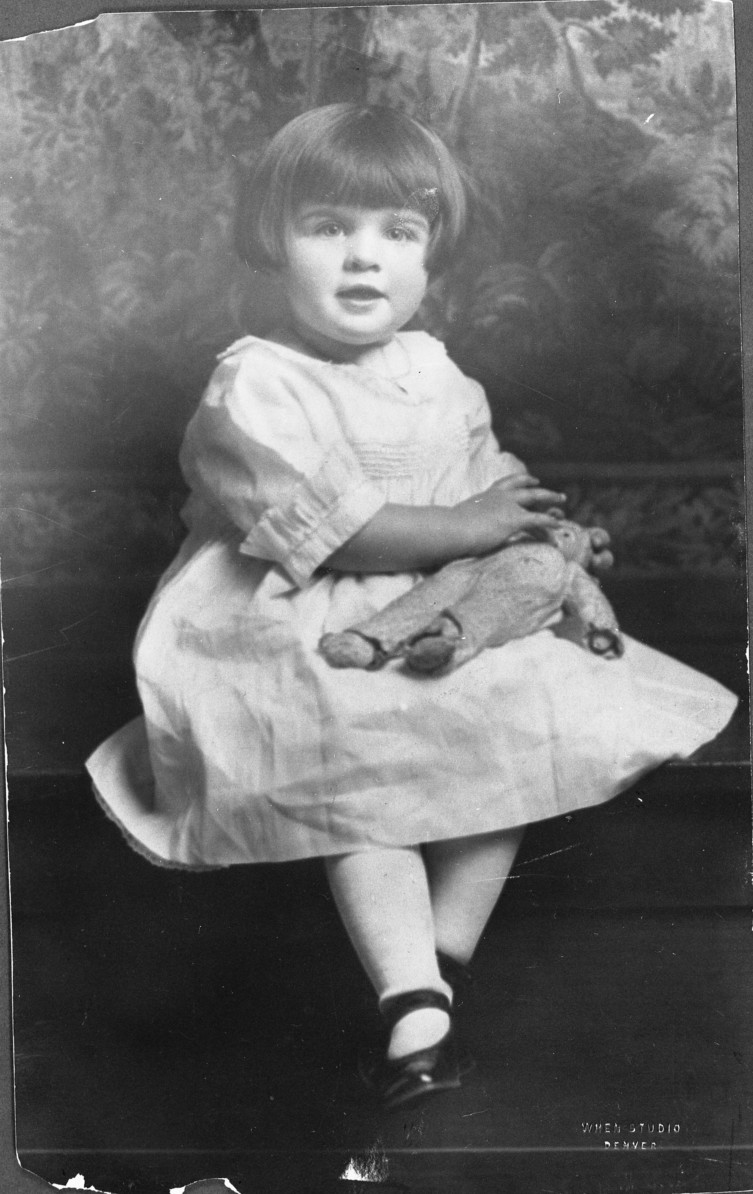 First Lady Betty Ford, age 3 — a little girl who grew up to change the world