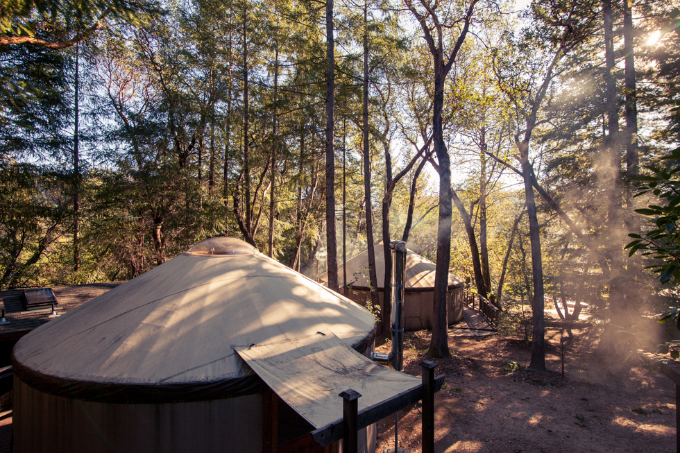 Double bear retreat center yurts