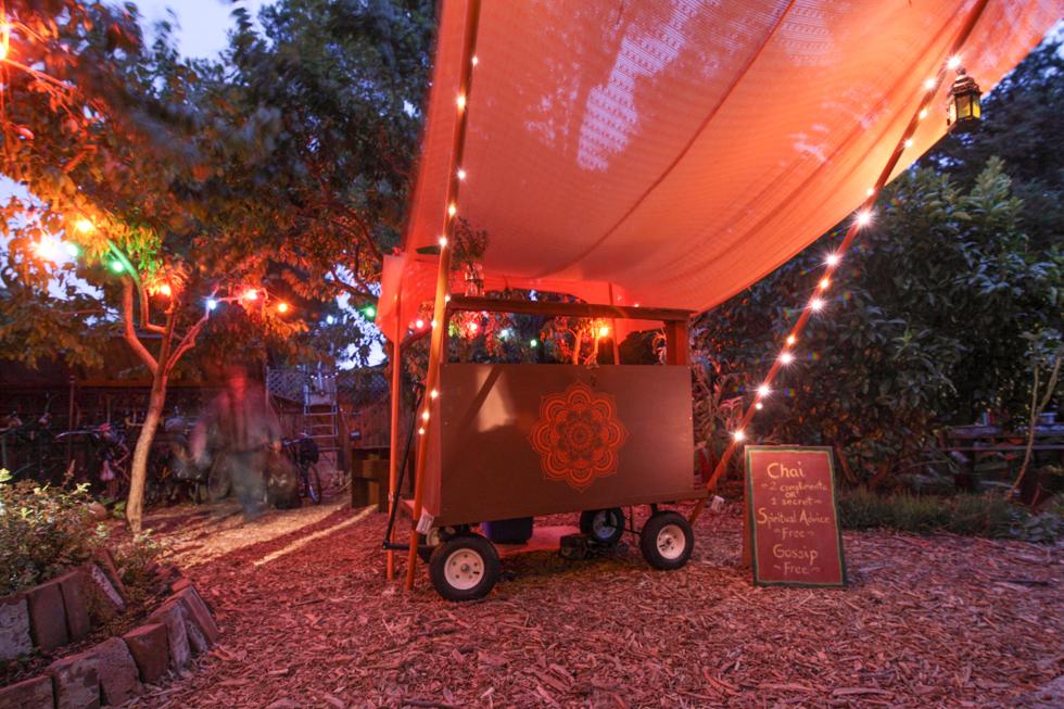 Burning Man Chai Cart