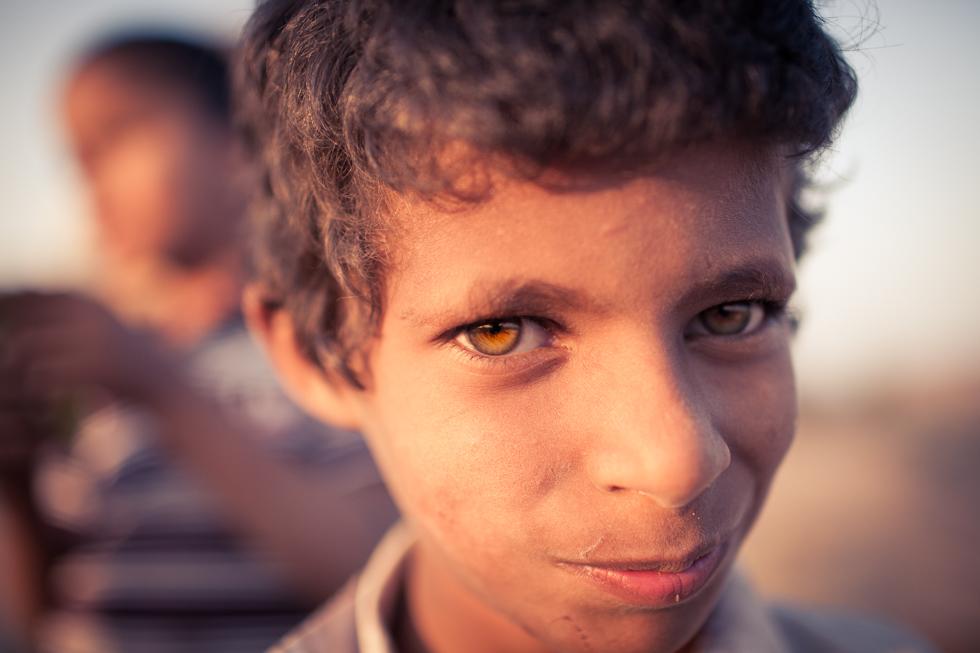 beautiful eyes of child