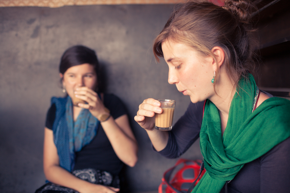 sipping chai india