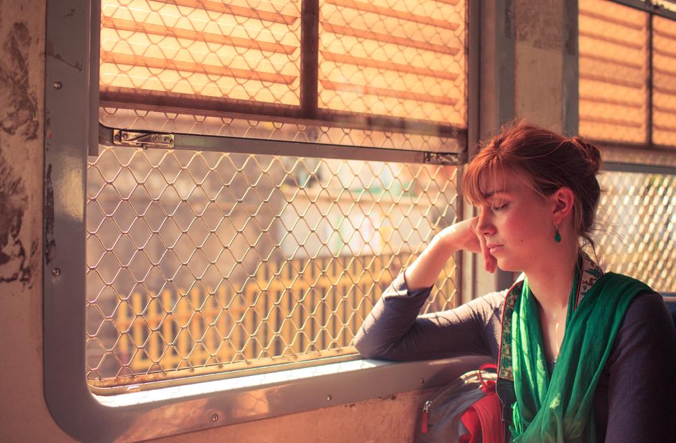 sleeping on train india