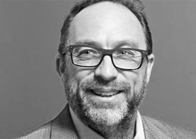 Jimmy Wales Co-Founder of Wikipedia   Jimmy Wales is the co-founder and promoter of the online non-profit encyclopedia, Wikipedia, and the for-profit Wikia web hosting company. He is a member of the Berkman Center for Internet & Society at Harvard Law School, member of the advisory board of the MIT Center for Collective Intelligence, and the board of directors at Creative Commons and Hunch.com. In January 2016 Wales became a non-executive director of the Guardian Media Group.