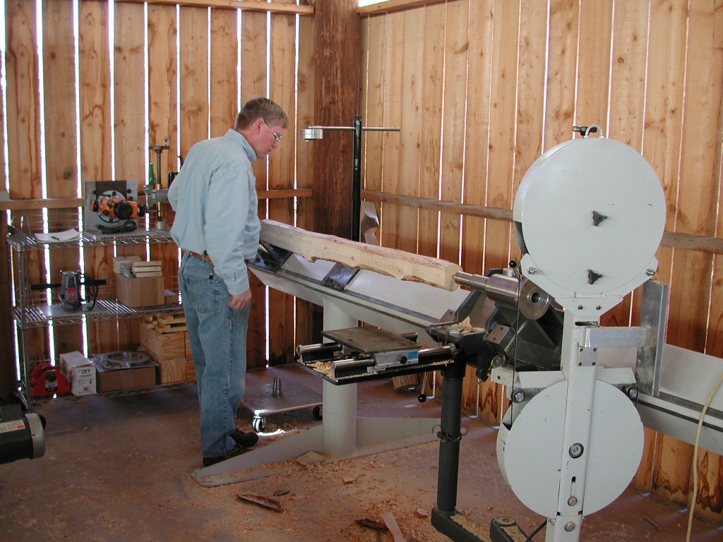 Centerline System for small diameter wood product production. Photo by Gordon West.