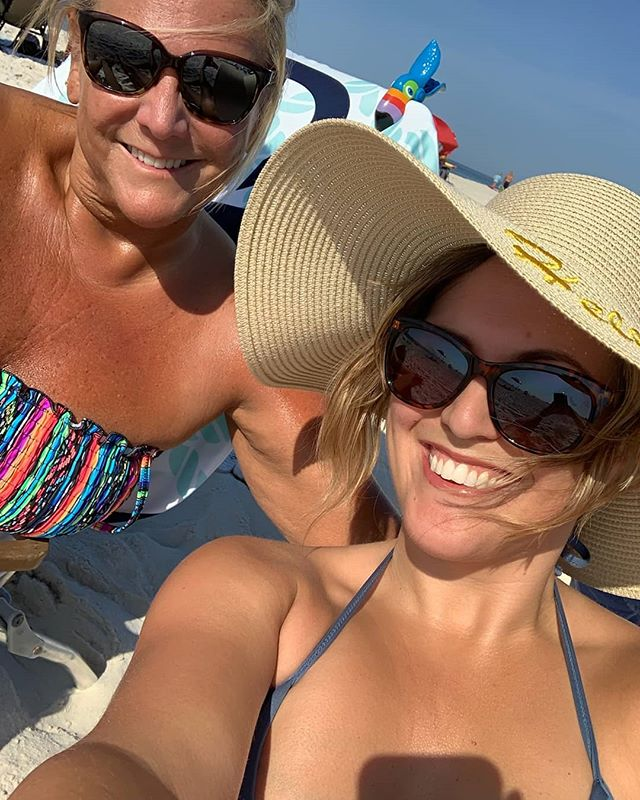 Mother-daughter beach fun!  Tonight: Rascal Flatts!