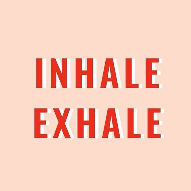 Inhale~exhale💗 Start your day off with some deep breathes to help de stress and clear your mind! {What is your favorite way to destress?}