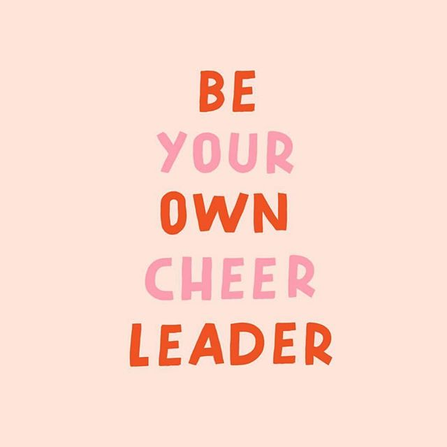 Be your own cheerleader👏🏻👏🏽👏🏾👏🏿 Be proud of yourself for what you have accomplished and what you are GOING to accomplish! Don't give up! Take today to get one step closer to your goal and be proud. 💖