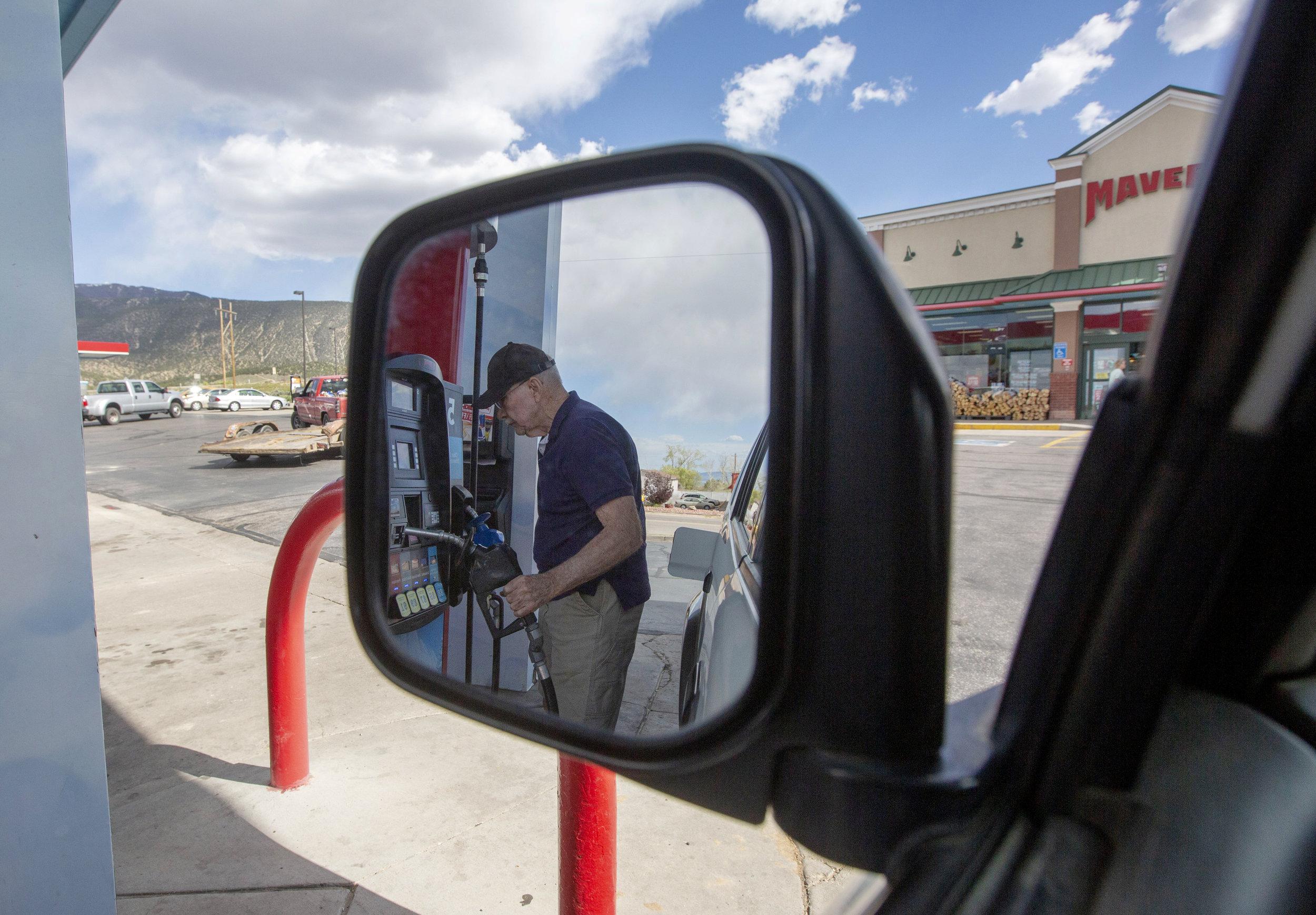 Getting gas in St, George Utah.