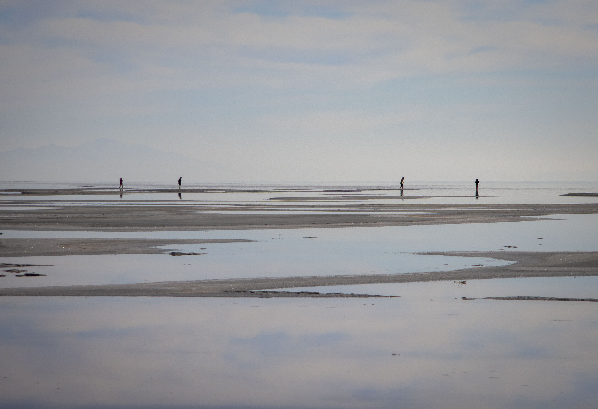 Visitors to the northern area of the Great Salt Lake