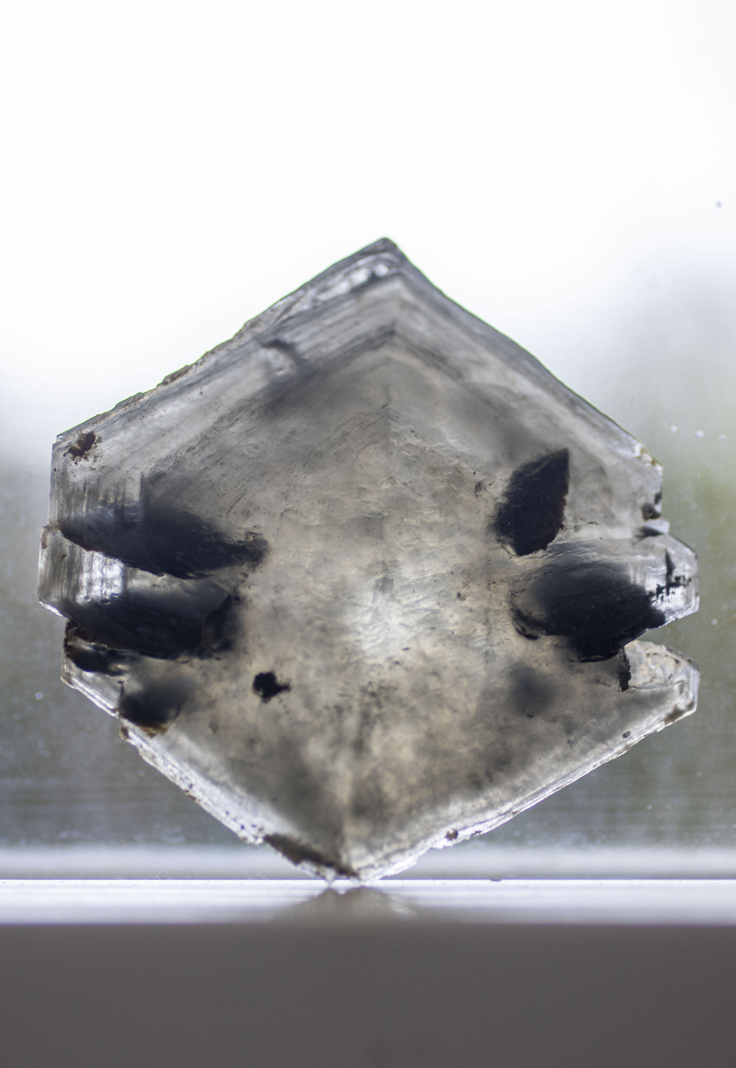 A crystal after mud removal.