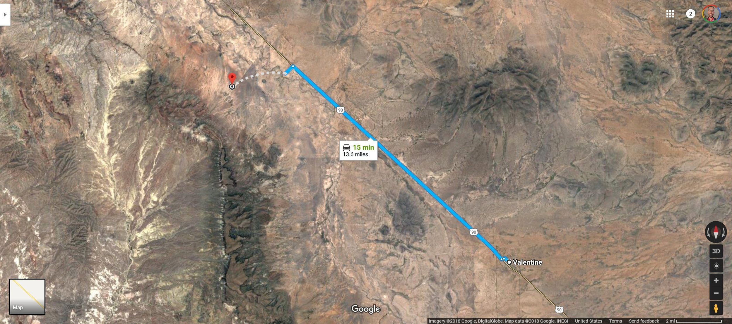 Screenshot of Valentine, TX to 30.7008056, -104.7037500 - Google Maps.jpg