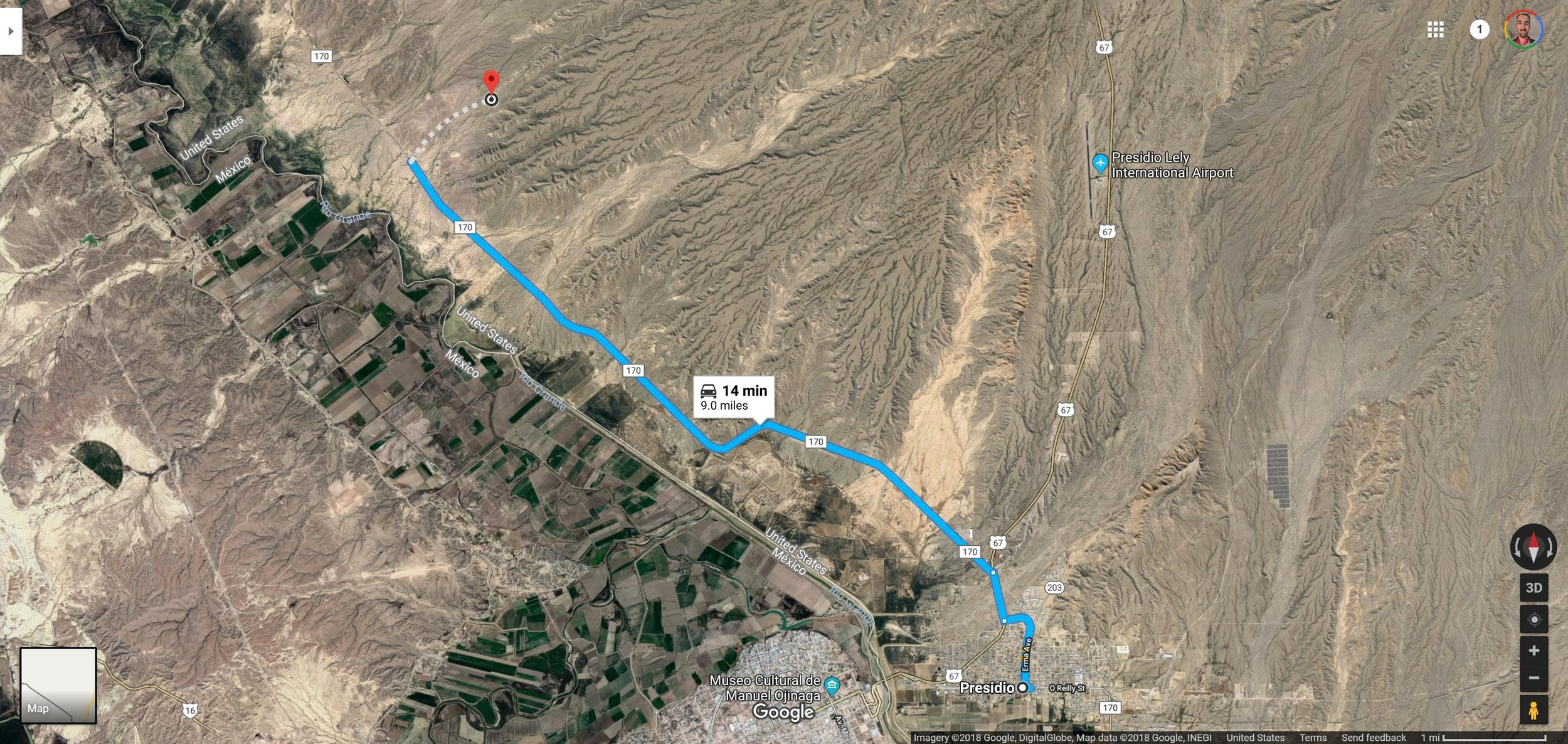 Screenshot of Presidio, TX to 29.6446111, -104.4592778 - Google Maps.jpg