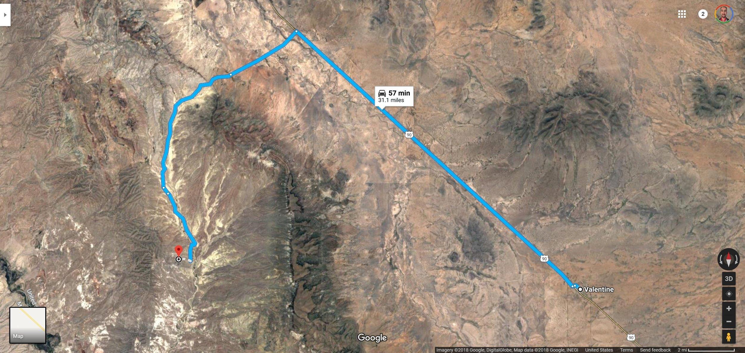 Screenshot of Valentine, TX to 30.6062500, -104.7929444 - Google Maps.jpg