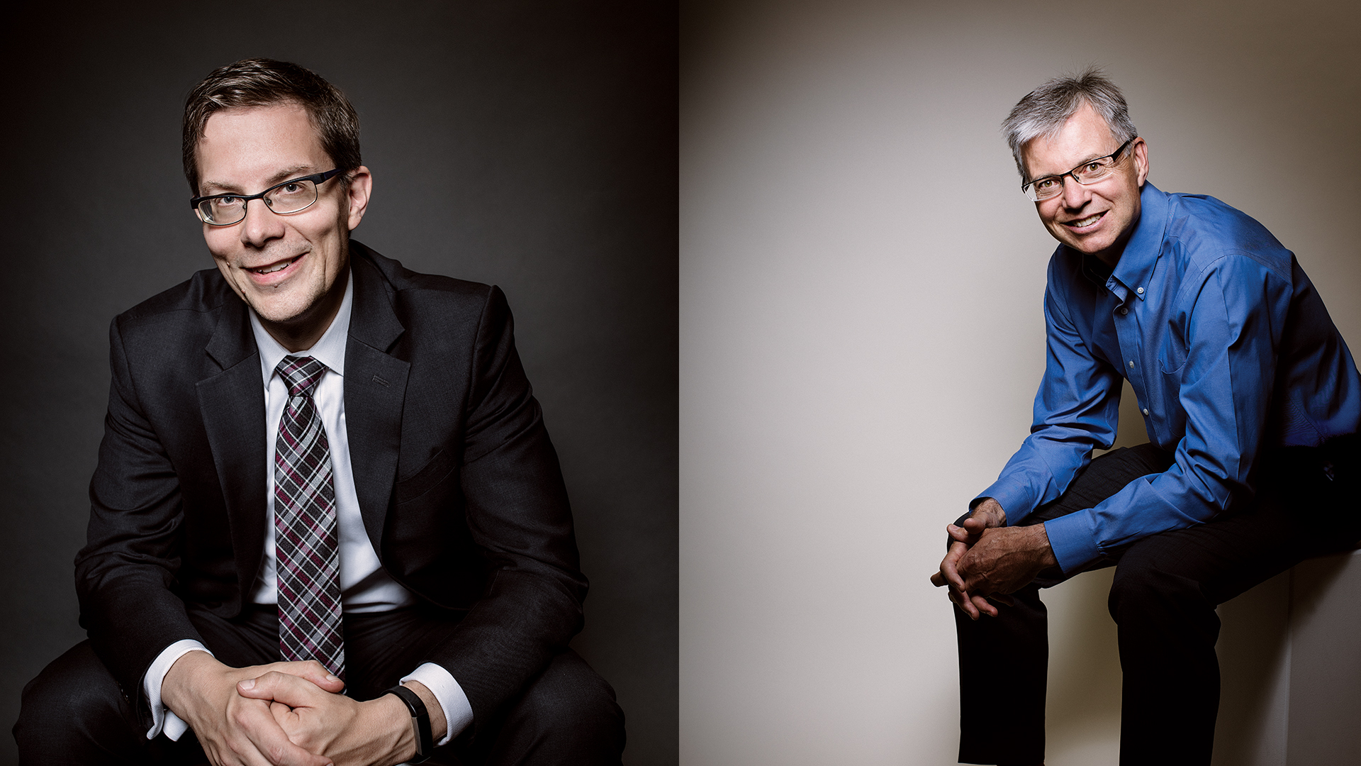 Dr. Eric Smith (l), Dr. Marc Poulin (r) - Photos by Jared Sych