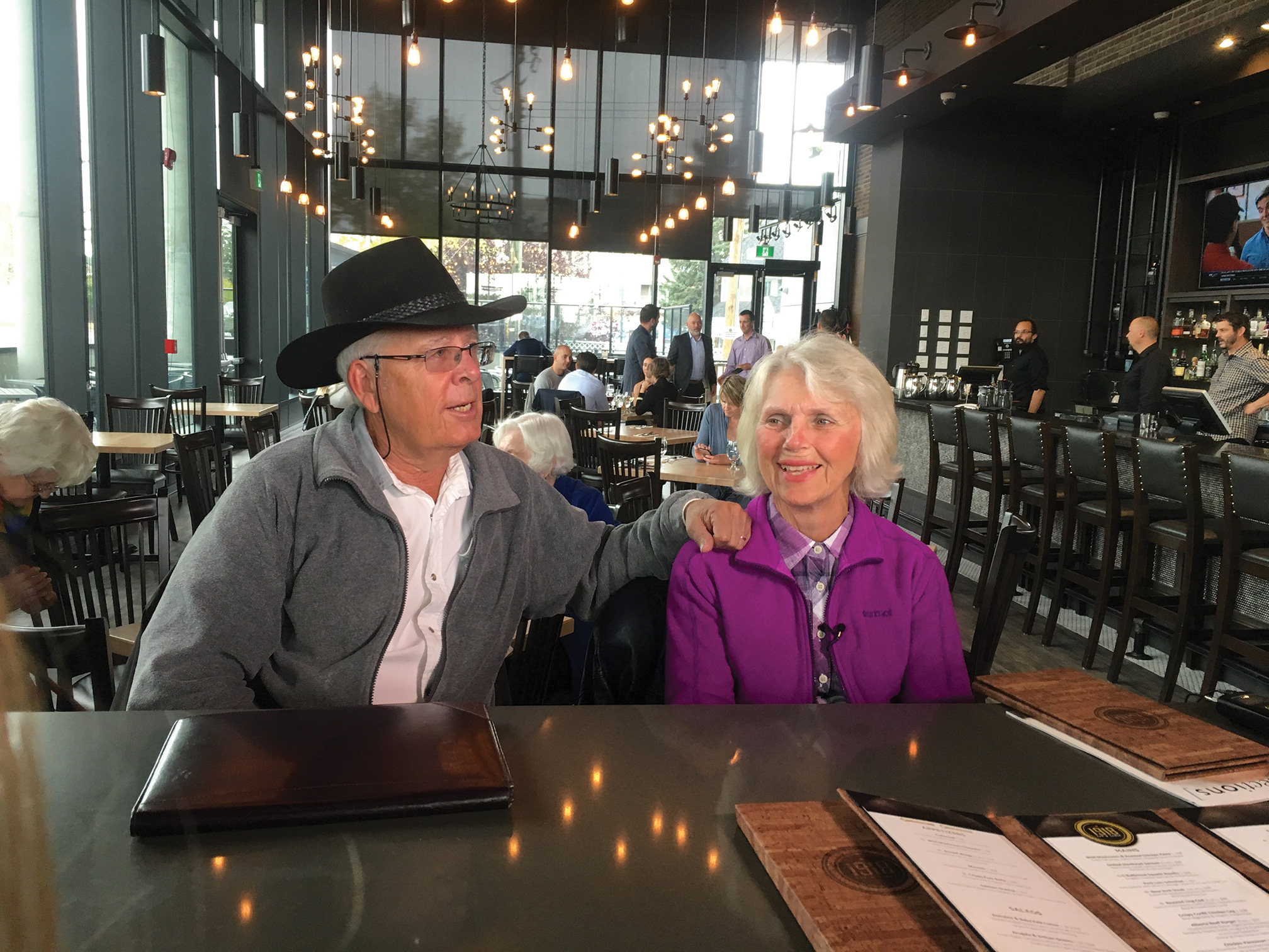Alan Rae and Joan Connor at 1918 Tap and Table in Calgary.