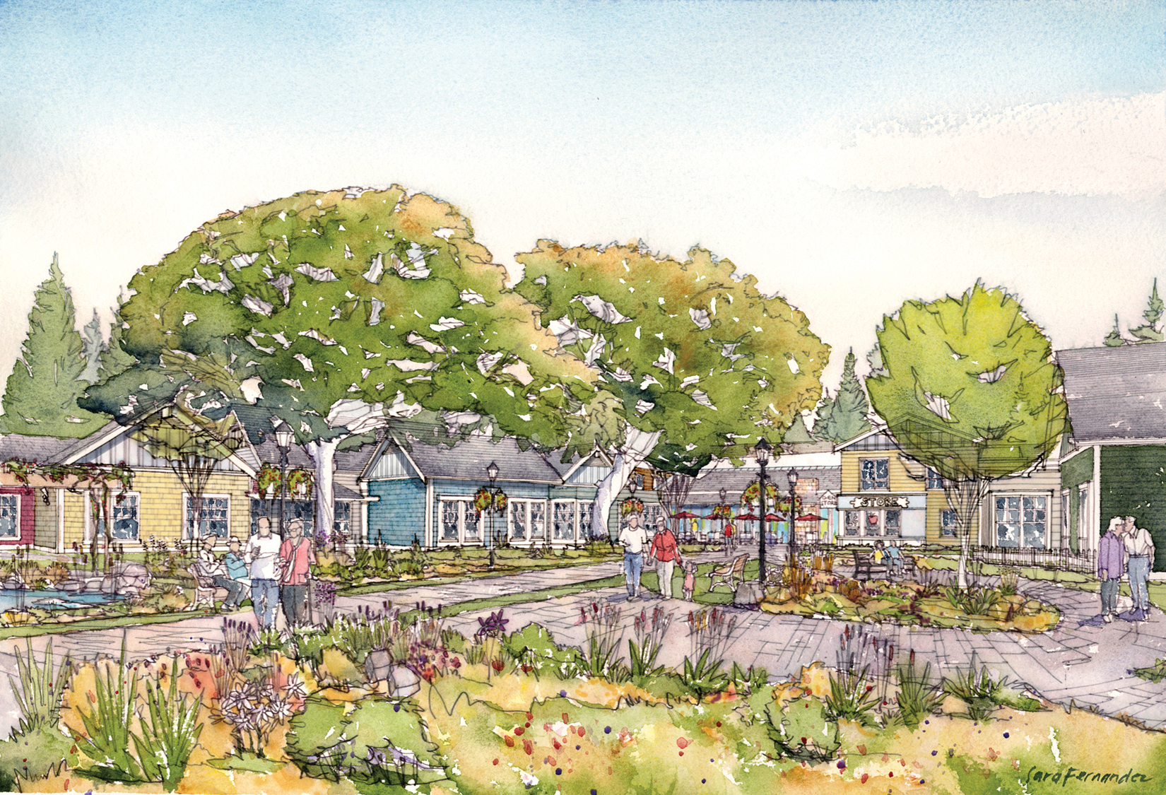 An artist's rendering of The Village, a lifestyle-focused dementia care facility in Langley, B.C., being readied to open in June of 2019.Illustration courtesy The Village.