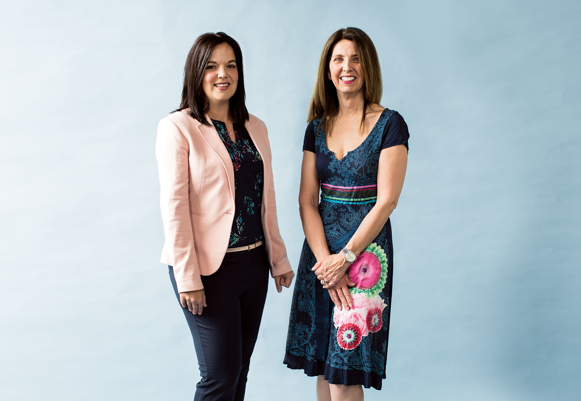 Kimberly Shapkin, left, and Loralee Fox developed and teach the DOME program.Photography by Jared Sych.