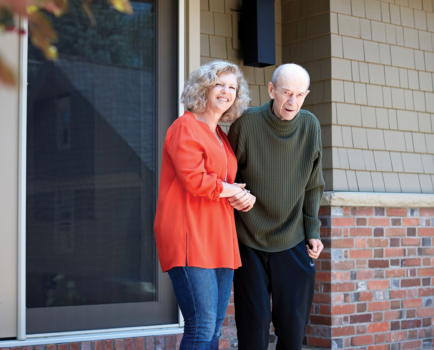 Lisa Poole, shown here with her father, John. Photo by Erin Brooke Burns.