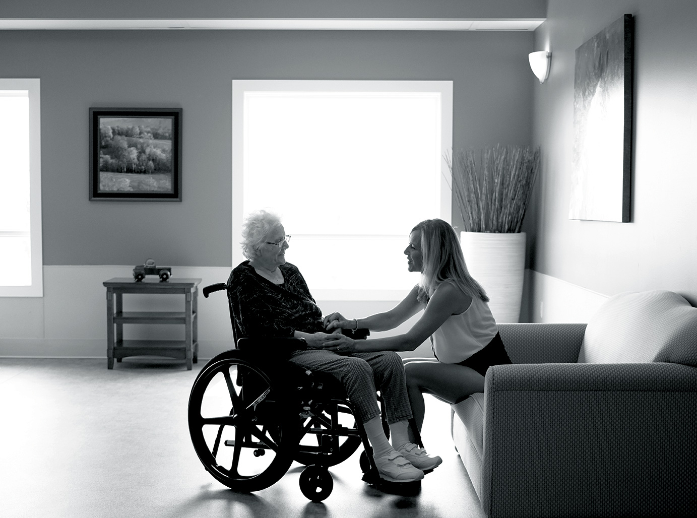 Christine Foran and her mother, Ethel. Photo by Erin Brooke Burns.