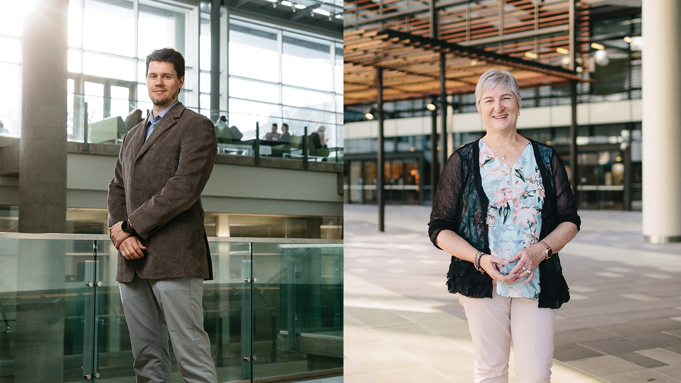 From left: Dr. Matthew Macauley, photos by Cooper & O'Hara. Dr. Theresa Green, photos by Paul Bamford.