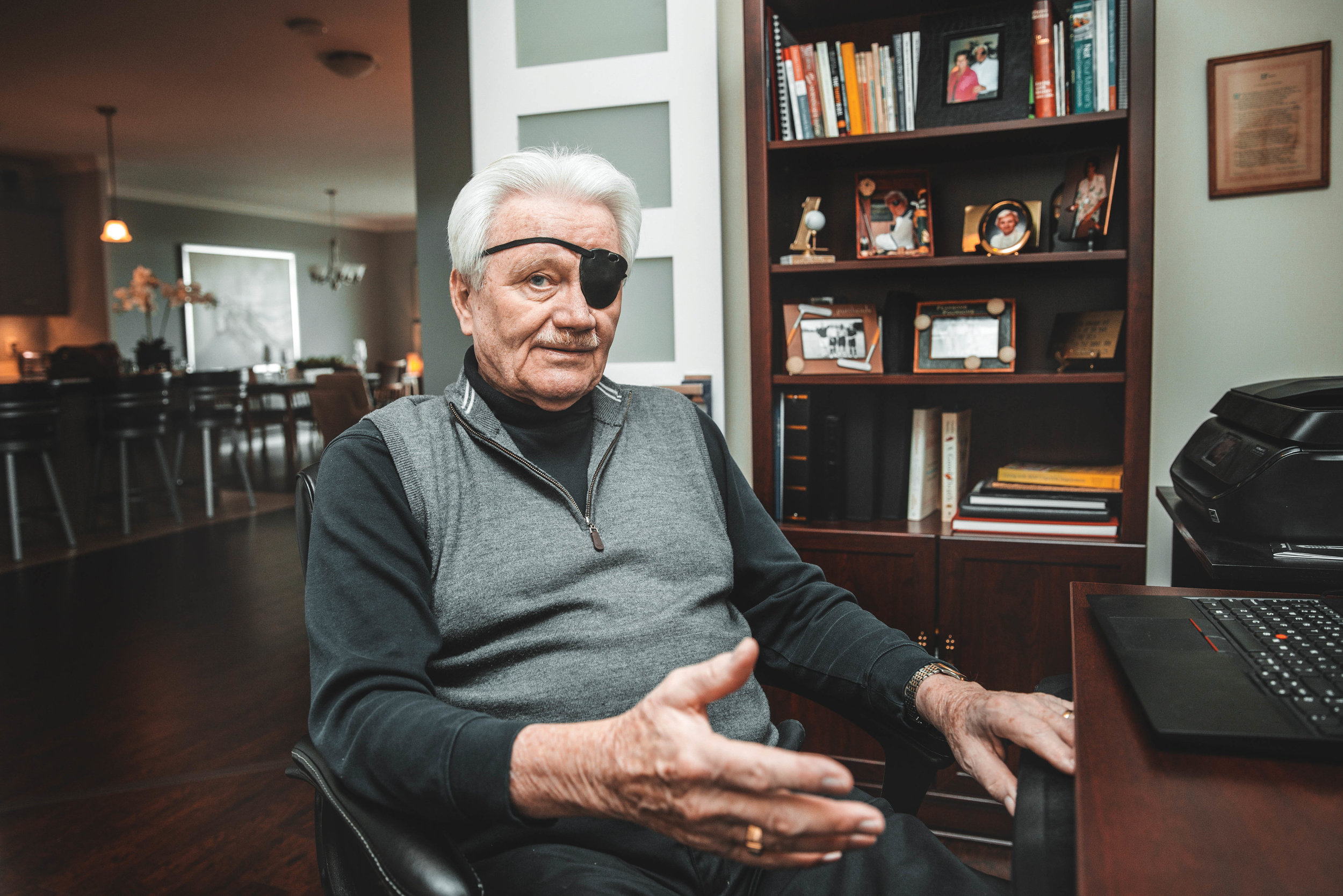 Ron Posno at home in London, Ont. Photo by Monique Wiendels.