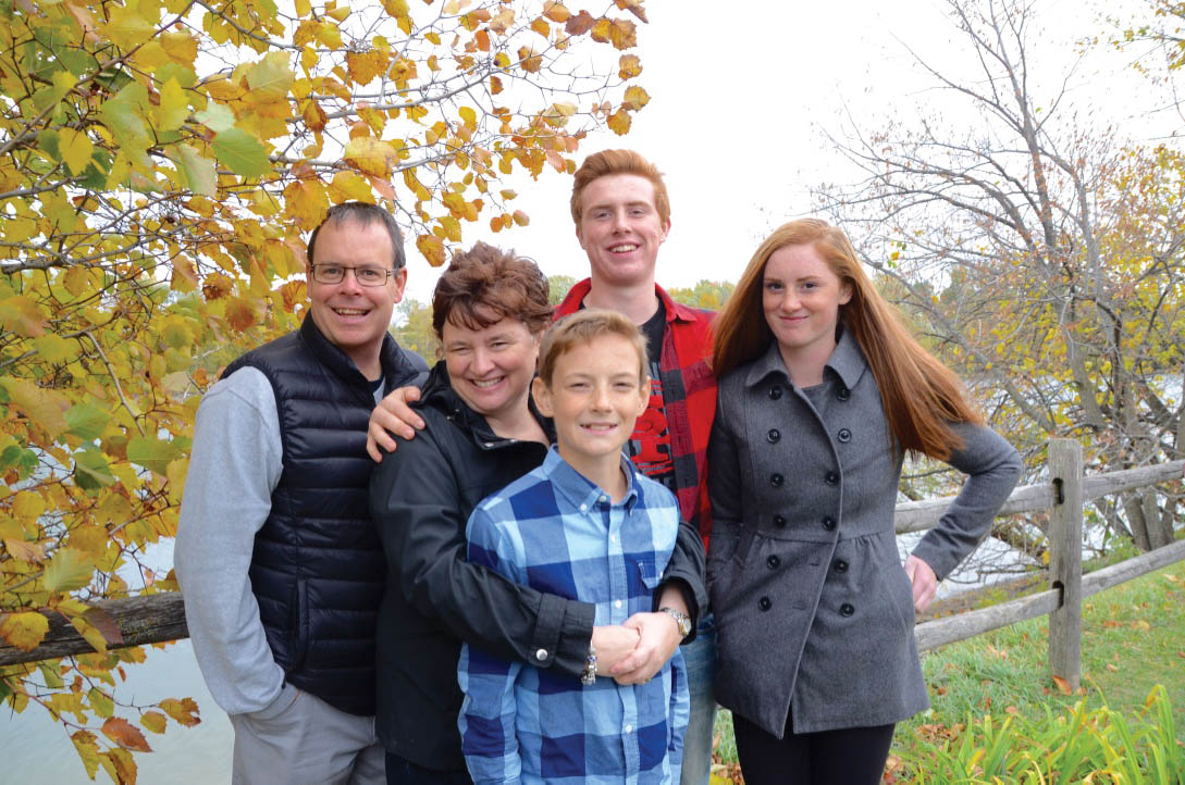 Matt and Lisa Dineen with their three children. Photo by Maryalice Mullally.
