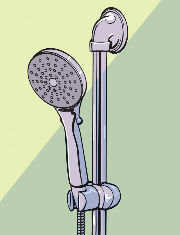 """Renovating the bathroom with grab bars and handheld shower wands is major. Having a shower wand that has a pause button to promote independence to control turning water on and  off is terrific for individuals and caregivers."" –Margot Schulman"