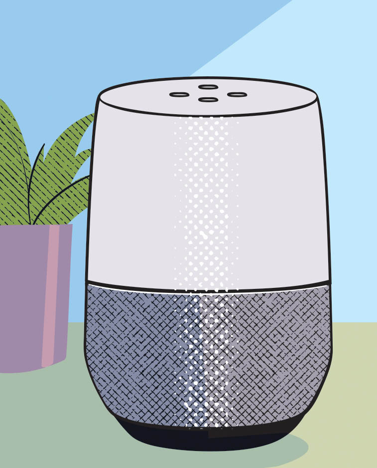 """Taking sensors and overlaying them into the common smartphone for Google Home or Alexa, you can make a motion detector, so, if the loved one wanders, the device says, 'Oh, Joan, go back to bed,' with the loved one's voice. It helps everyone sleep."" –Marnie Courage"
