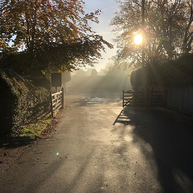 My school run this morning - chilly but absolutely stunning! I am such a summer girl it takes me a while to appreciate the cold, sunny days but today was gorgeous ☀️ #beautifulbourneend #abbotsbrookestate #autumn🍁 #autumnisokay #frostymorning #gratitude #nofilter