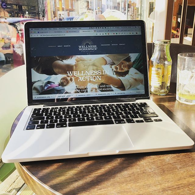 Sat in the sunshine in a cafe in Marlow admiring my latest client website. Such a pleasure working with Gail from @wellnessworkspace who is super knowledgeable and inspirational. I learned loads about posture and stress along the way. I know her business will continue to grow with her lovely new branding and site. #digitalcoach #workplacewellness #websitedesign #squarespacewebsite #squarespace