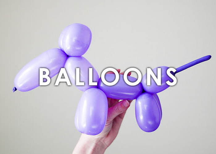 Balloon Twisting Fun For all occasions  Vibrant balloon animals, swords, and princess crowns galore! Bring life to any event, and pair with face painting or tattoos for added fun.   LEARN MORE