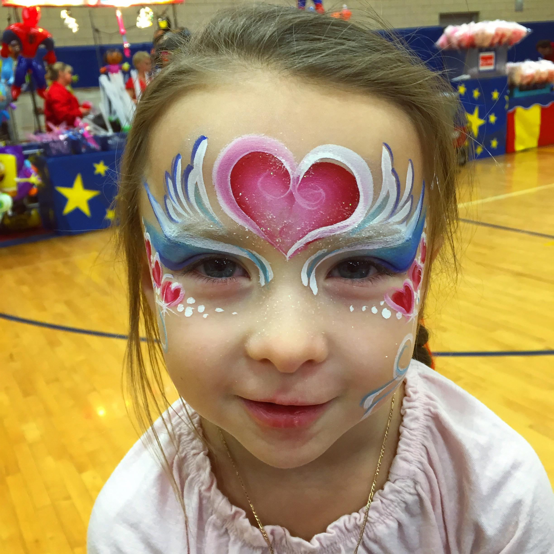 Hearts Face Paint