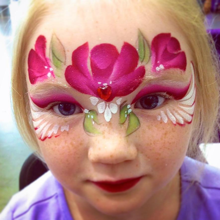 Rose Face Paint