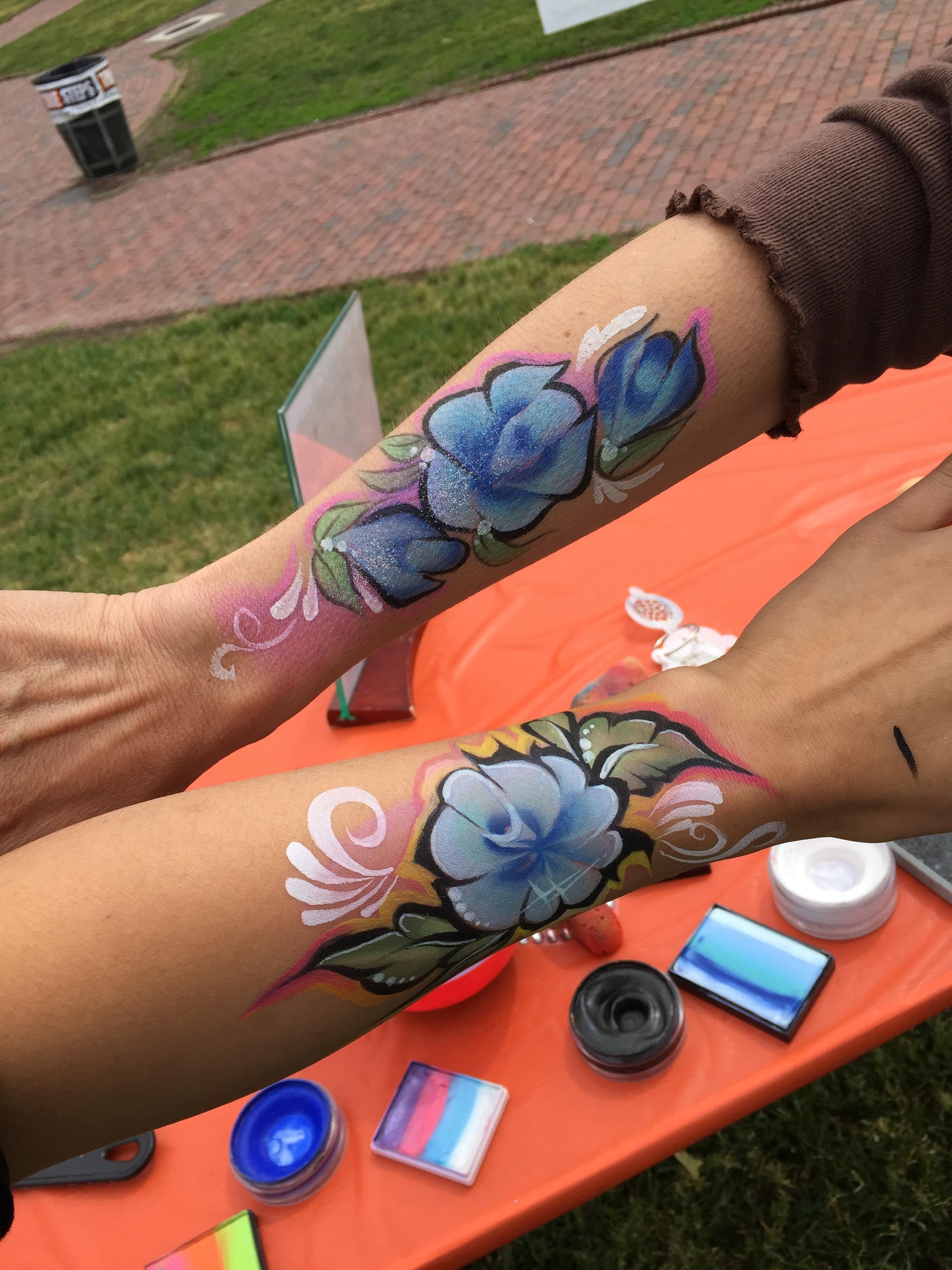 Roses Arm Paint