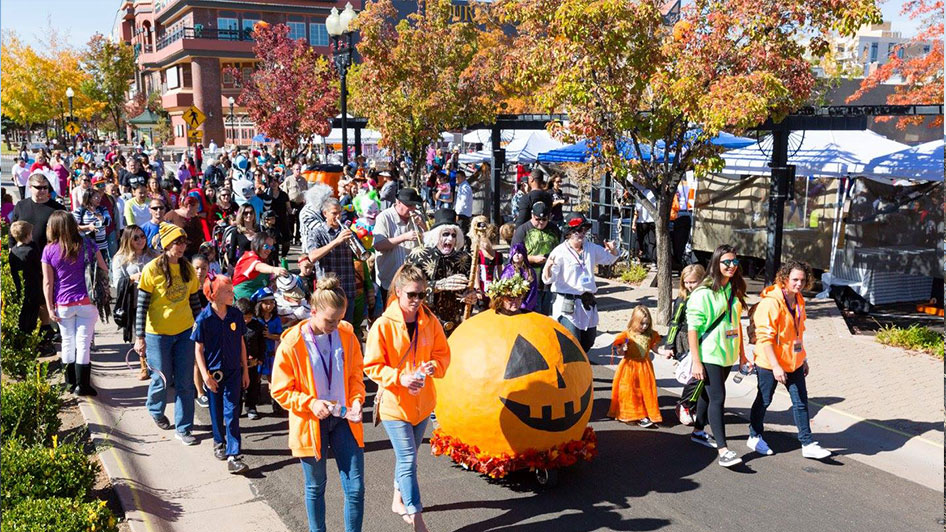 Pumpkin Palooza in Sparks,featuring the kid's costume parade
