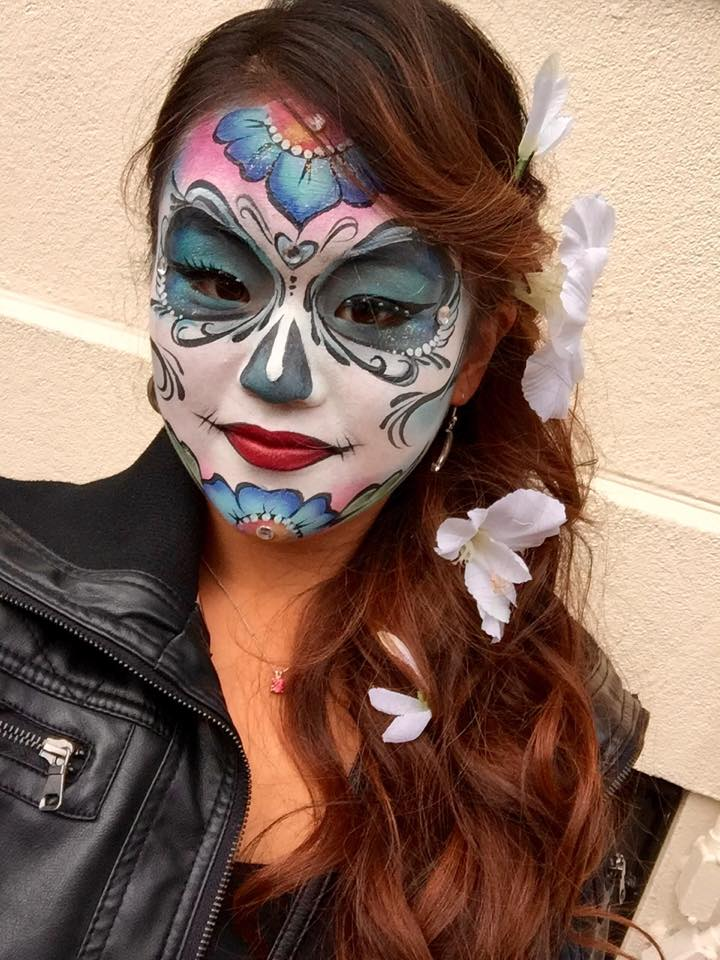 Caroline Sugar Skull Face Paint