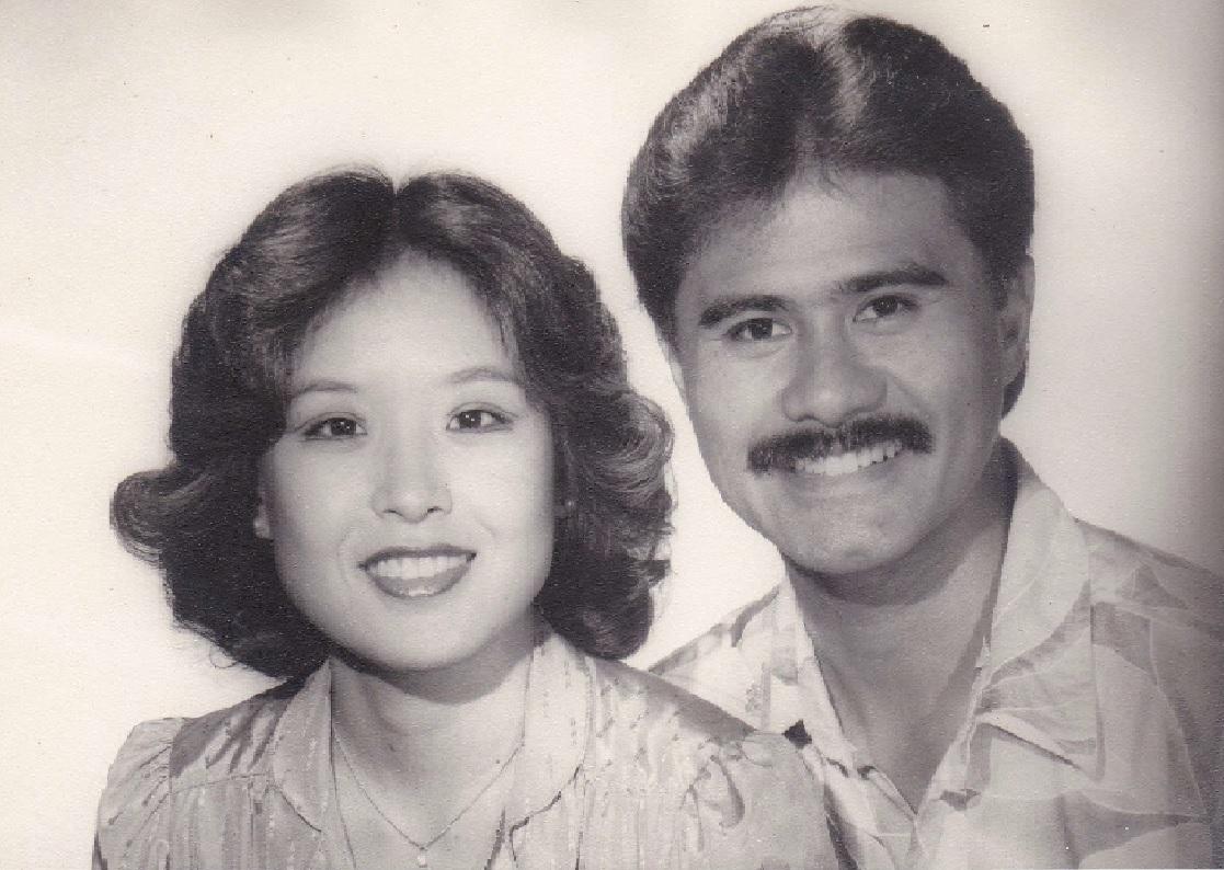 Gail Toshie Shimao Bunda and Bobby Bunda,    after 1st Election in 1982