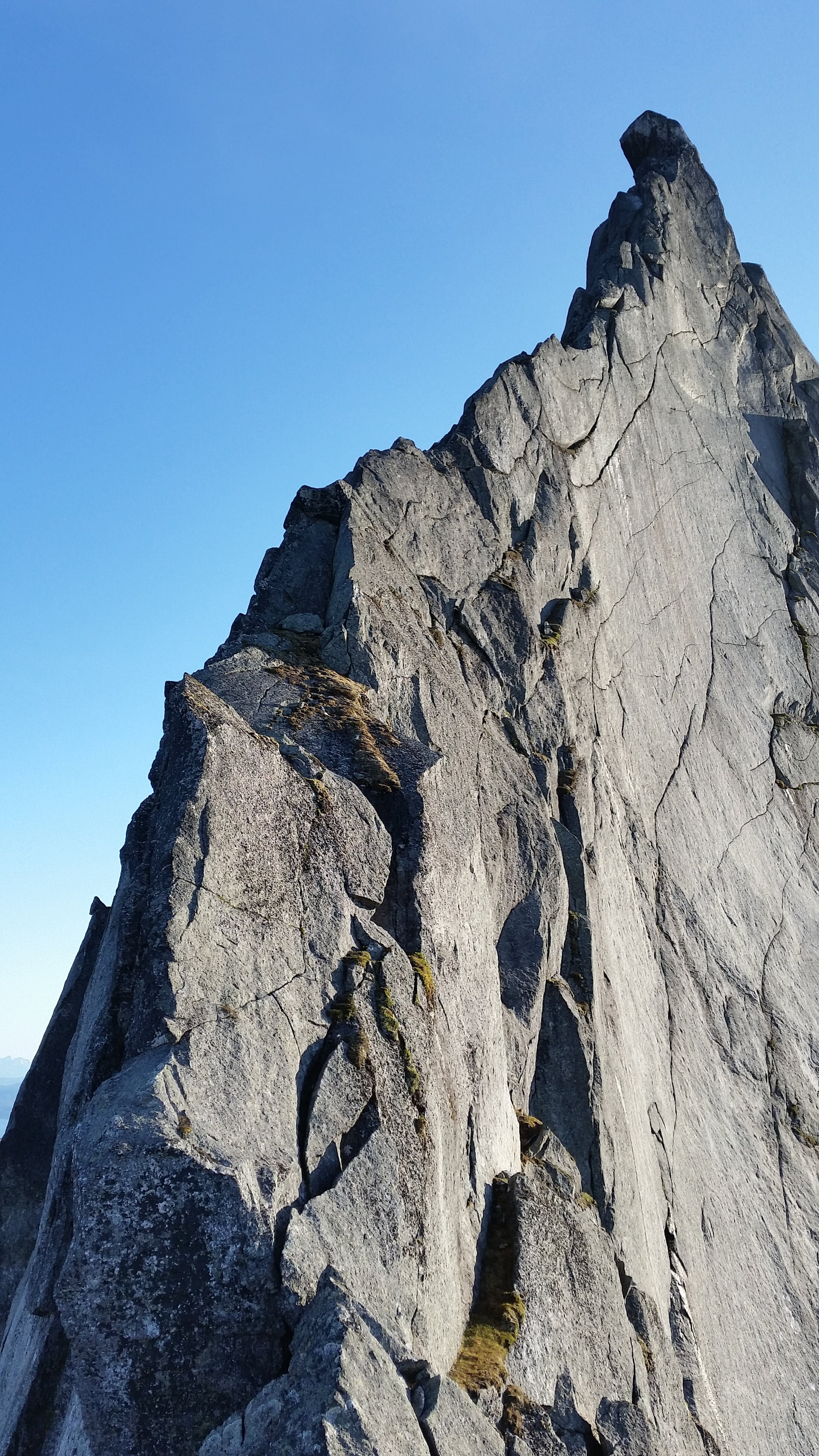 East Ridge of the Kuglehorn, one of Tysfjords many great moderate climbs