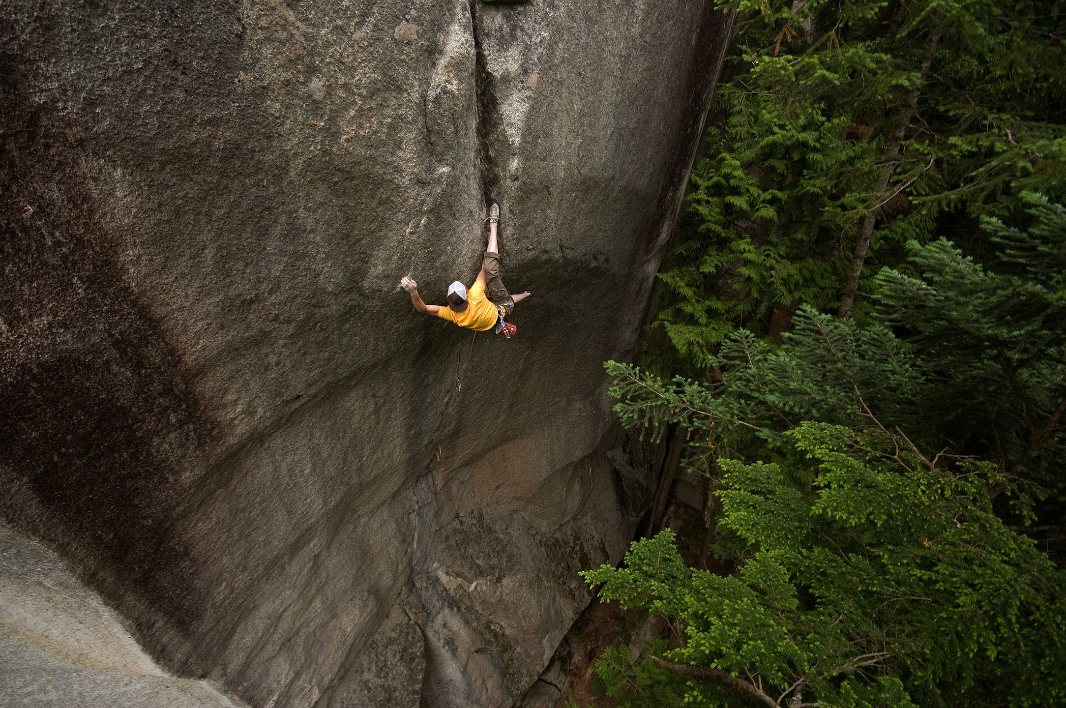Will on the Cobra Crack (5.14b) Squamish, BC  Photo: Rich Wheater