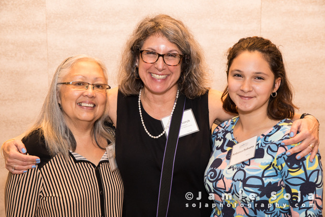 Marcie Storch (M) with featured guests, Margareth & granddaughter, Ambiance