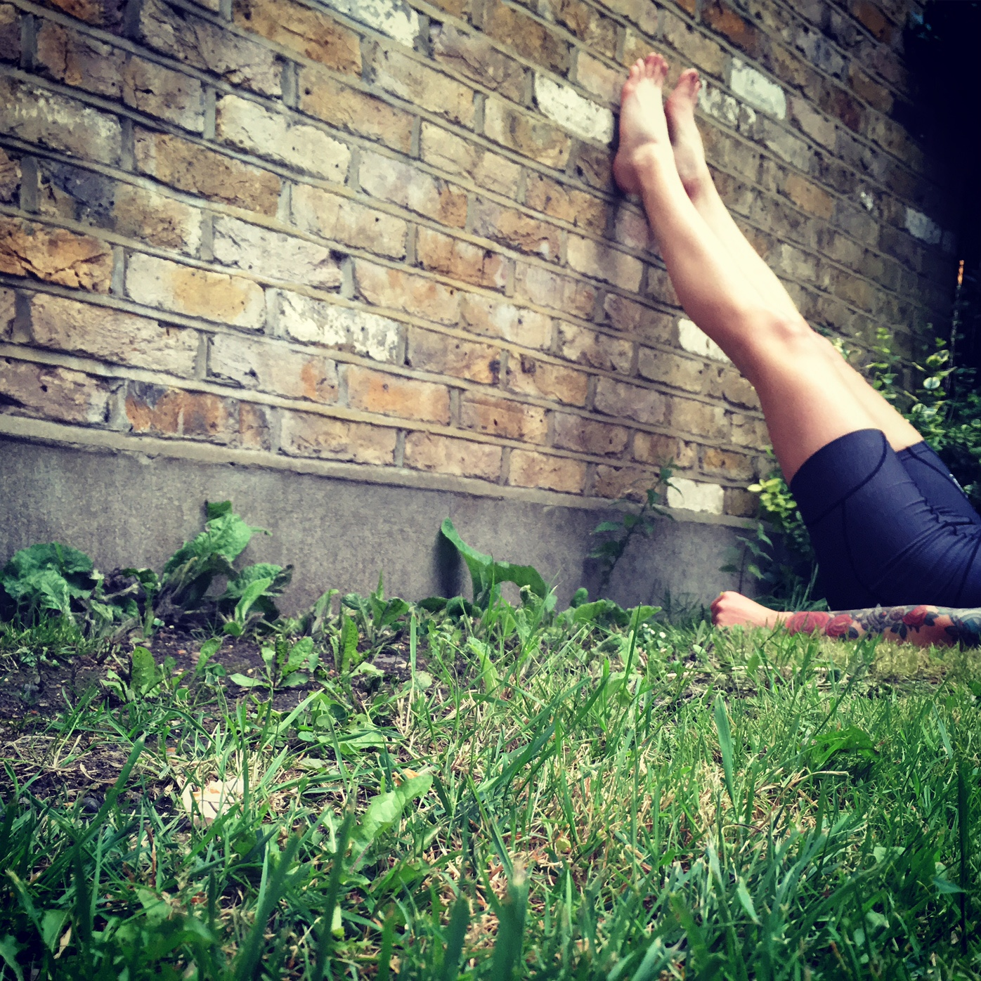 Post-cycling legs up the wall (viparita karani)