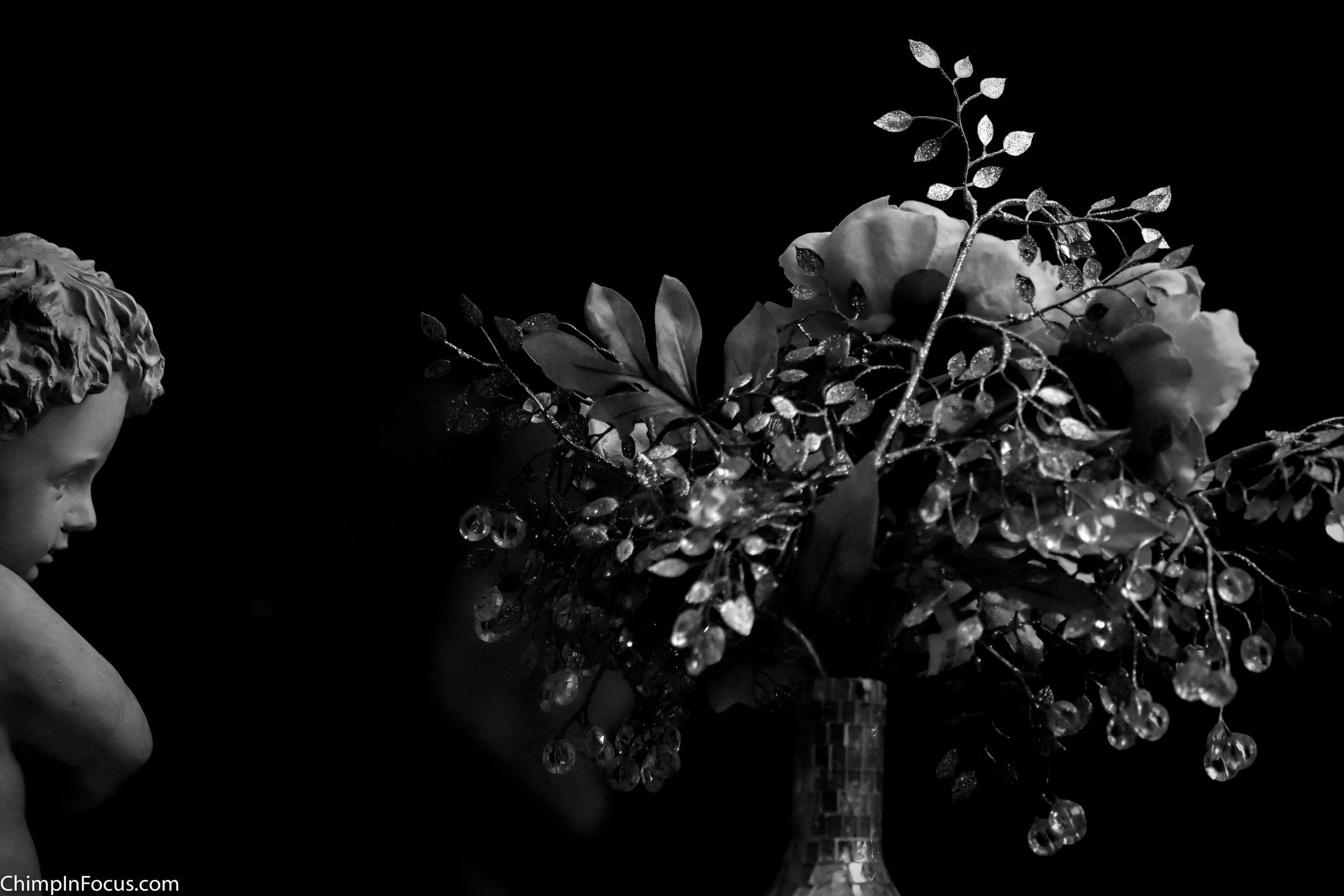 Cherub & Flowers