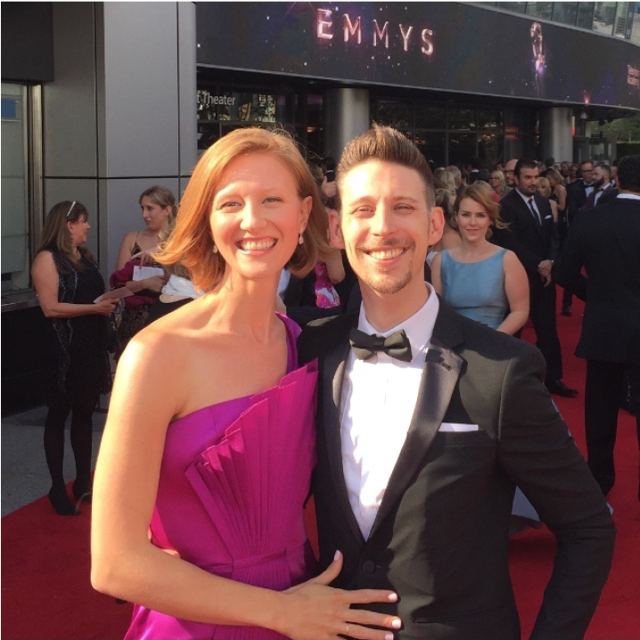 Last year's adventures: Ballard and I at the 2017 Emmys.