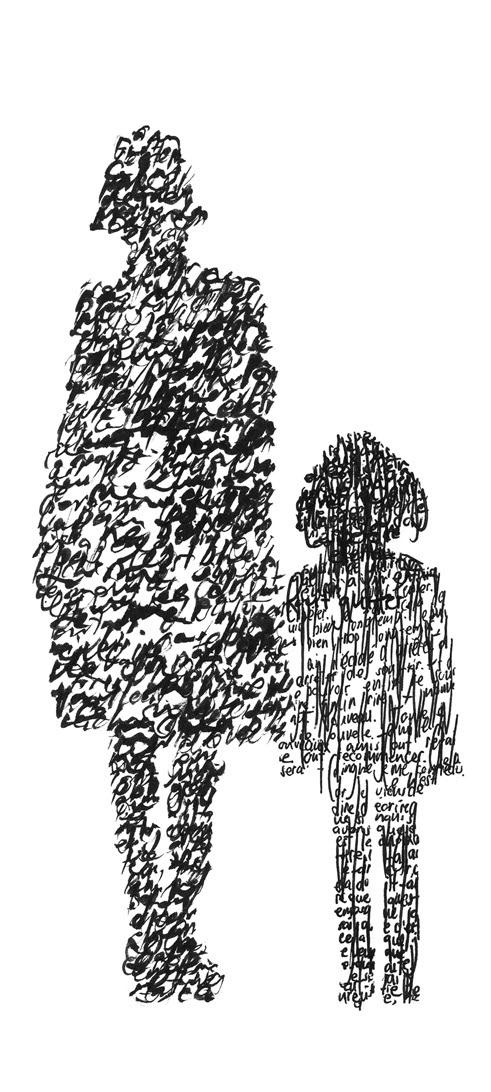 - Parfois, je tombe sur une image, une photo, qui fait émerger en moi des souvenirs.Je les pose alors par écrit, reformant la silhouette et transcrivant ce qu'elle m'inspire. L'intention d'écrire n'est donc pas forcément présente en premier lieu, mais le fait d'être à nouveau prise dans mon passé fait remonter émotions et texte, l'envie et le besoin d'expression.