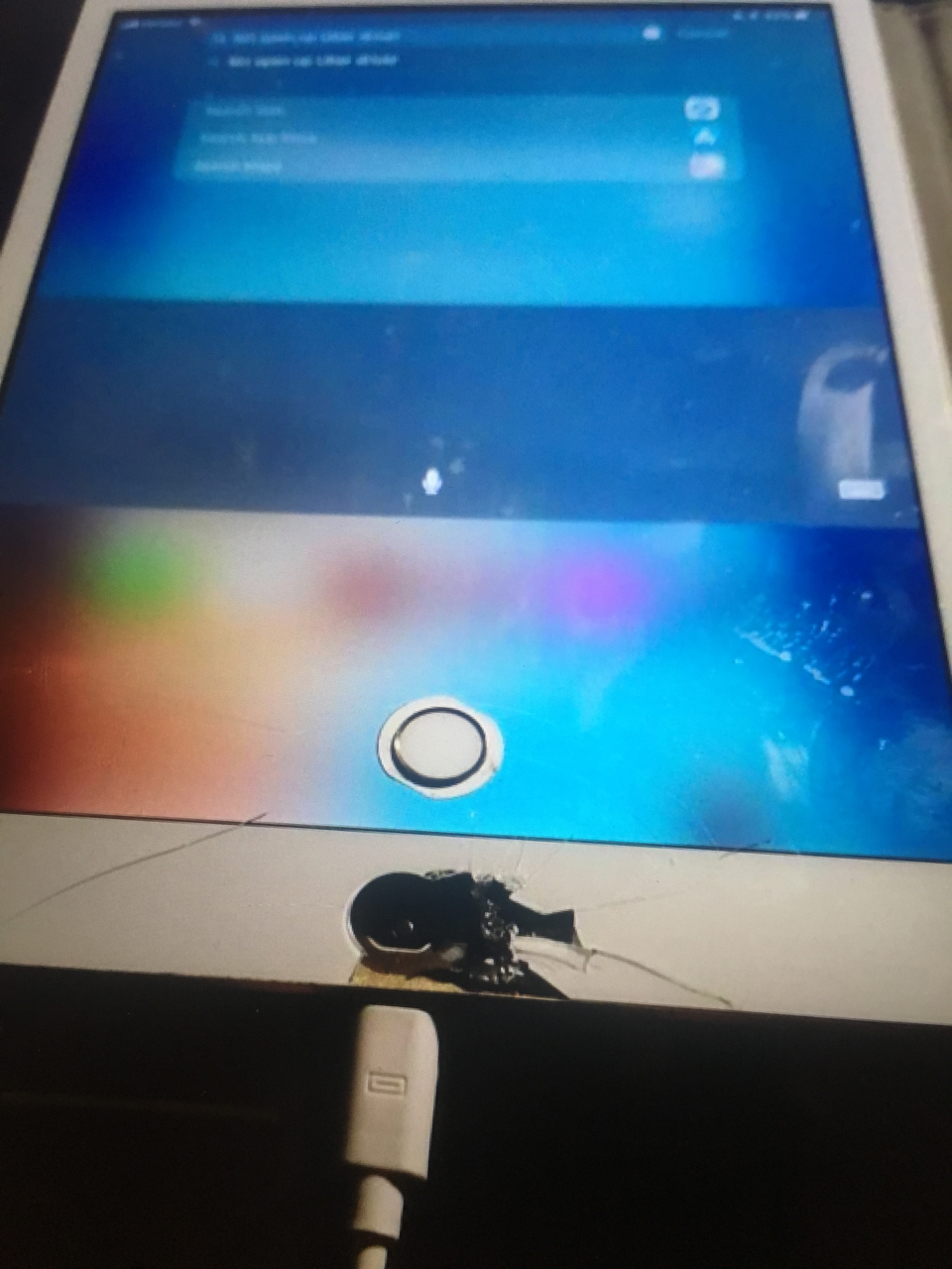 """Home button - """"on the screen"""""""