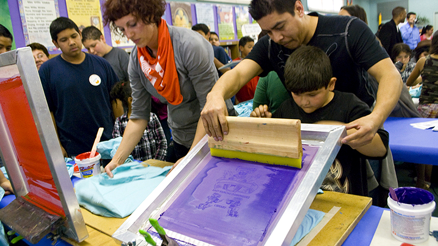 East Rancho Screenprint Art Youth Tote Bags Library.jpg