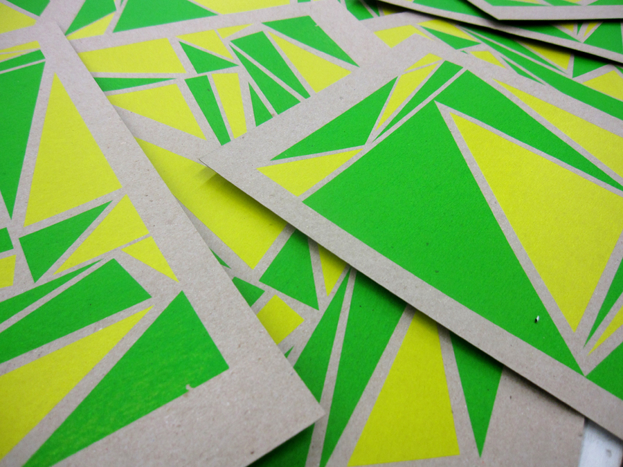 Screen Print Posters Yellow Green Geometric.jpg