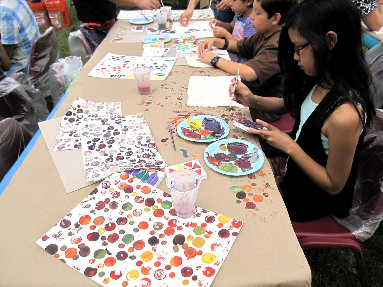 Artesia Library Block Printing Artist Led Workshop Yourth Polka Dots Color.jpg